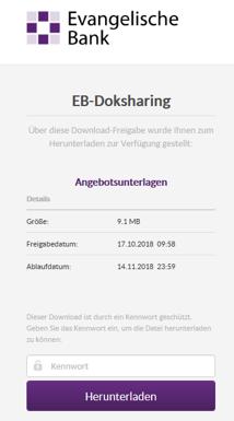 Download-Fenster von EB-Doksharing