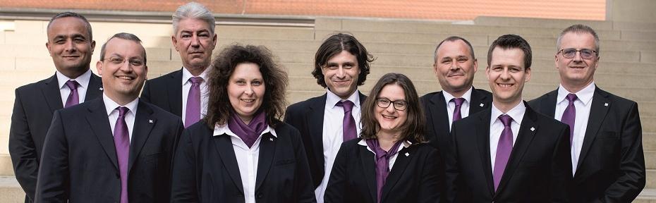 Mitarbeiterinnen und Mitarbeiter der Abteilung Liquiditätsmanagement/E-Business