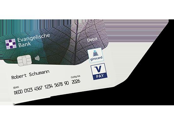 Abbildung der girocard der Evangelischen Bank
