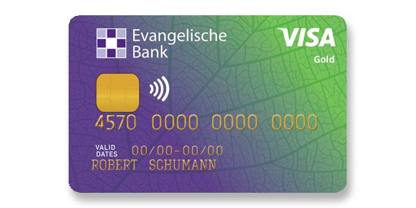 Abildung der Visa GoldCard