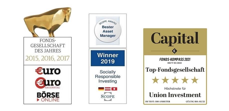Auszeichnungen der Union Investment